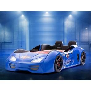 GT999 PLUS łóżko w kształcie samochodu - niebieski