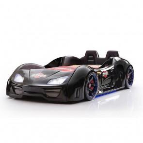 GT999 PLUS łóżko w kształcie samochodu - czarny