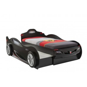 Łóżko Coupe czarny szuflada