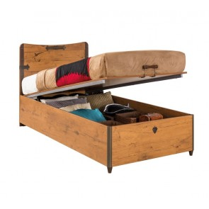 Black pirate pojedyncze łóżko tapczan 90cmx190cm