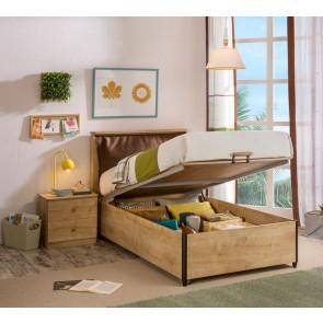 Łóżko z pojemnikiem Mocha ( 100 x 200 cm)