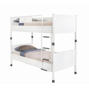 Łóżko piętrowe (90x200) White Cilek