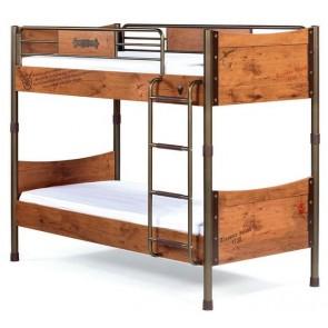 Black Pirate łóżko piętrowe 90cmx200cm