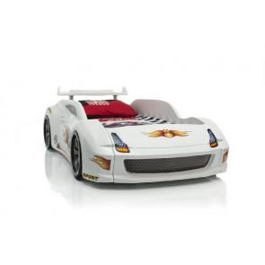 Łóżko dziecięce samochód Grand Speed białe standard