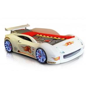 Grand Speed łóżko samochód białe full