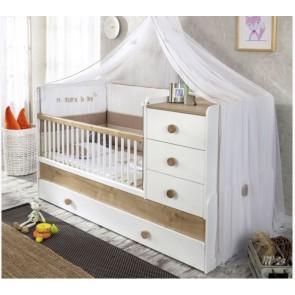 Natura Baby łóżeczko kompaktowe z szufladą (80x180cm).