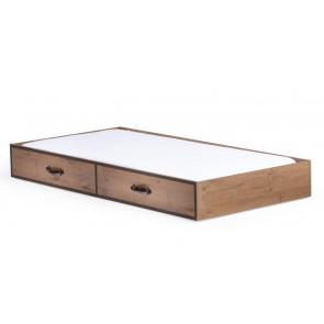 Black Pirate pojedyncze łóżko wysuwane szuflada 90cmx190cm