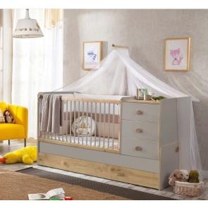 Baby Grey łóżeczko kompaktowe (80 x 180)