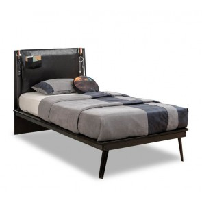 Łóżko młodzieżowe Dark Metal Line (100x200cm)