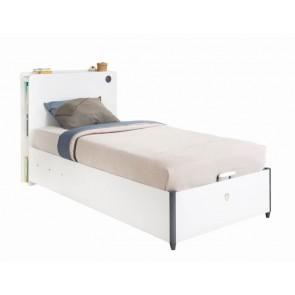 Łóżko młodzieżowe z pojemnikiem (100x200) White Cilek