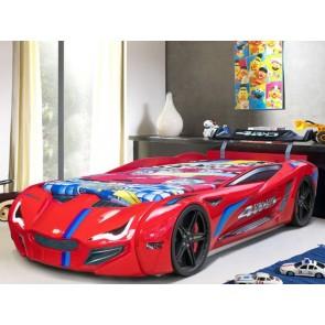Łóżko auto GT Turbo czerwony