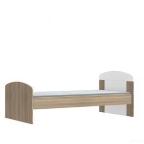 Łóżko 80x160 cm (biel / sonoma) – Moko Mija Popup