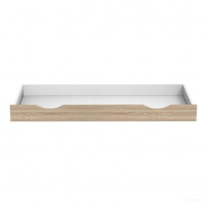 Szuflada do łóżka 160 cm ( biel/ sonoma) – Moko Mija Popup