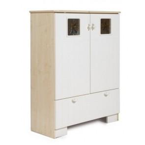 Regał z drzwiami i szufladą -Mokko Kama