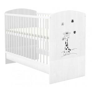 Łóżeczko niemowlęce 140x70 , Mokko Mija White