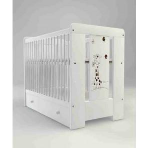 Łóżeczko niemowlęce 120x60cm Mija White