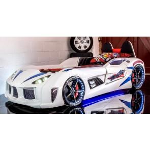 Łóżko auto GT Race biały