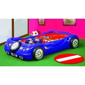 Łóżko samochód BOBO niebieski