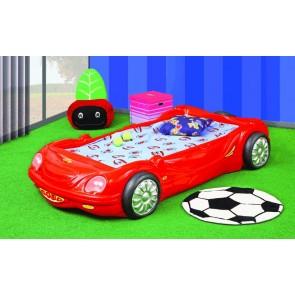 Łóżko samochód BOBO czerwony