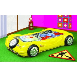 Łóżko samochód BOBO żółty