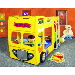 Łóżko piętrowe Happy Bus żółty