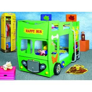 Łóżko piętrowe  Happy Bus zielony