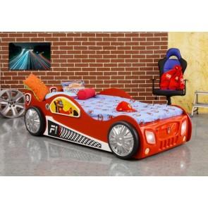 Łóżko samochód Monza czerwony