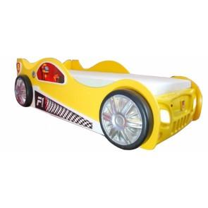 Łóżko samochód Monza żółty