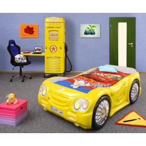 Łóżko samochód SleepCar żółty