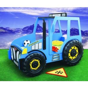 Łóżko samochód Traktor niebieski