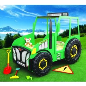Łóżko samochód Traktor zielony
