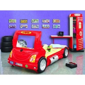 Łóżko samochód Truck czerwony