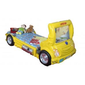 Łóżko samochód Truck żółty