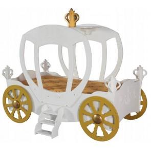 Łóżko dla dziewczynki Karoca kolor biały