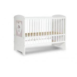 Łóżeczko niemowlęce 120 x 60 cm Popi Mokko