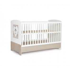 Łóżeczko niemowlęce 140x70cm Popi Mokko