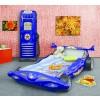 Łóżko samochód Formuła 1 niebieski