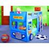 Łóżko piętrowe Happy Bus niebieski
