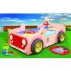 Łóżko samochód Jeep różowy