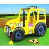 Łóżko samochód Traktor żółty