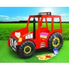 Łóżko samochód Traktor czerwony